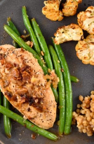 One Pan Chicken, Green Beans, and Bacon Recipe – 2 Points
