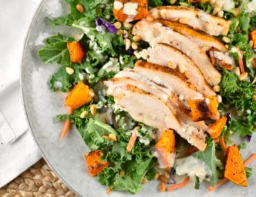 Chicken and Butternut Squash Salad with Tahini Dressing
