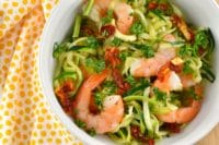 Garlic Butter Shrimp and Zoodles