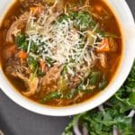 Chicken, Lentil, and Spinach Soup Recipe – 1 Point