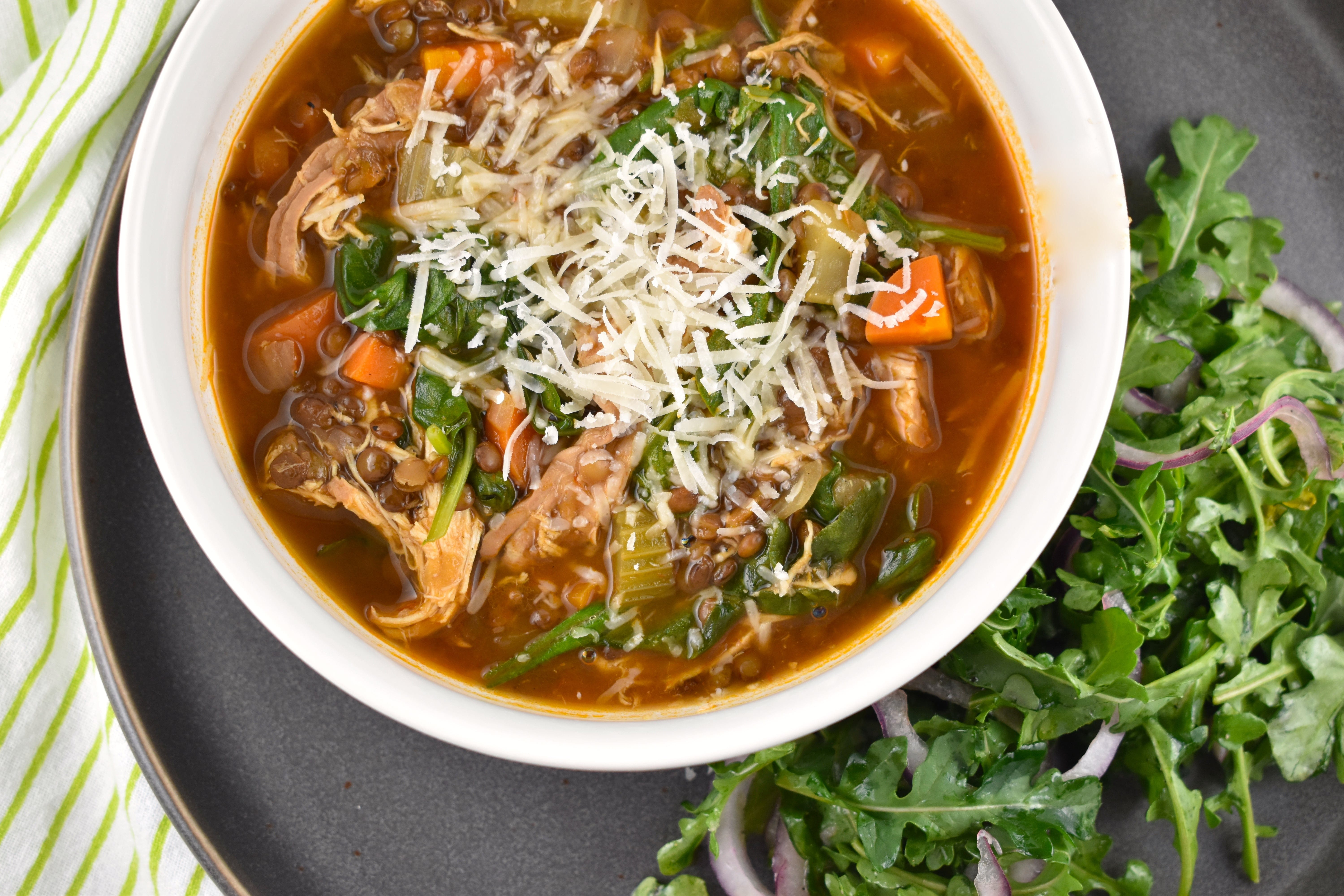 Chicken lentil and spinach soup recipe 1 point laaloosh chicken lentil and spinach soup recipe 1 point forumfinder Choice Image