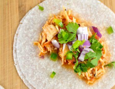 Jicama Tortilla Chicken Tacos